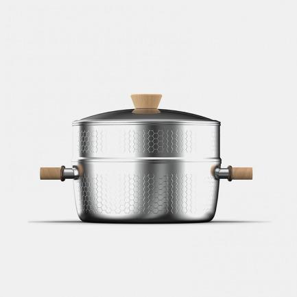 雪平蒸锅24cm | 上蒸下煮,导热迅速