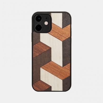 错落秩序木质手机壳 | 意大利进口,手工制作