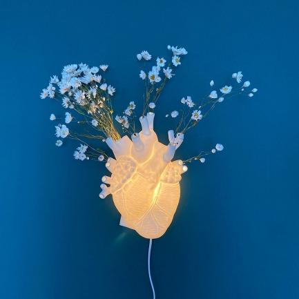 创意心脏花瓶壁灯   是壁灯,也是好看的花瓶
