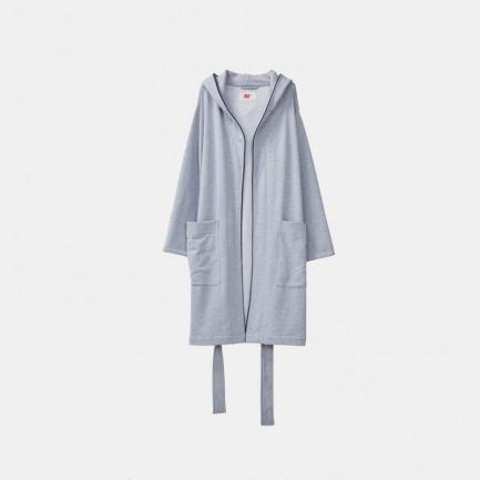 纯色家居浴袍 | 拳击袍版型 加勒比舒雅灰