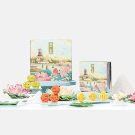 西湖十景绿豆酥礼盒 | 新式绿豆糕 还原江南味
