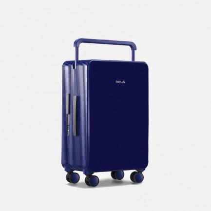 平衡系列亮蓝24寸旅行箱 | 自动弹跳按钮