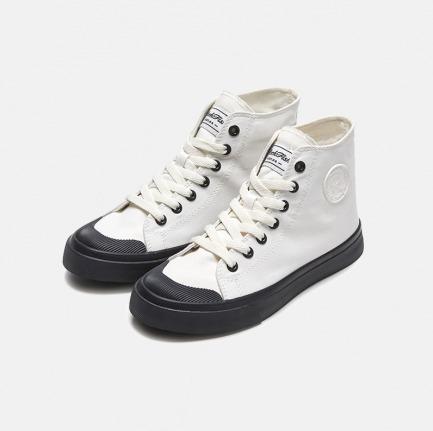 不怕湿高帮帆布鞋 | 可脱卸隐形内增高鞋垫