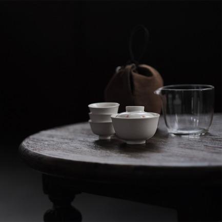 游息旅行茶具 | 一盖碗一公道三茶杯