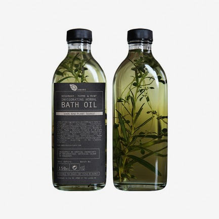 Rosemary thyme and mint invigorating herbal bath oil 150ml