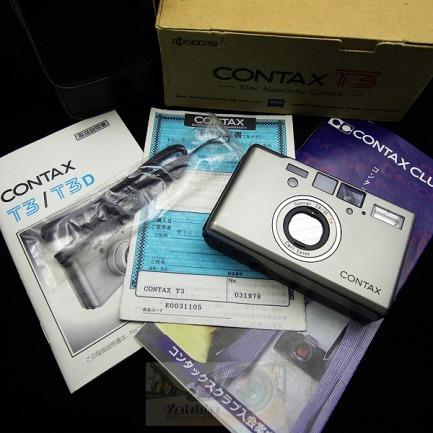 全包装 康泰时CONTAX T3 钛銀色 双齿-淘宝网