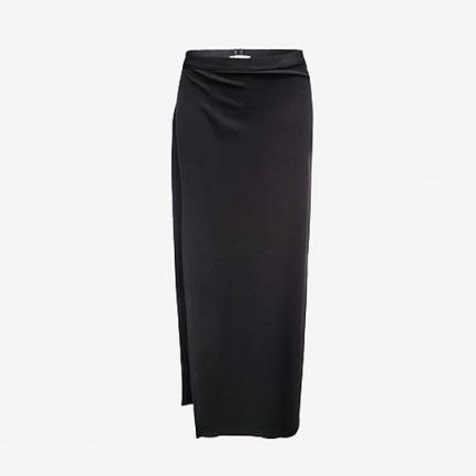 FrontRowShop黑色假两件加厚外穿打底裤裙裤
