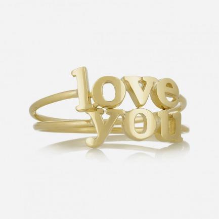 JENNIFER MEYER Love You 18K 黄金套戒(两枚式)