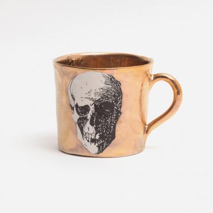 亚光金骷髅图案马克杯 | 巴洛克的奢华带进日常生活