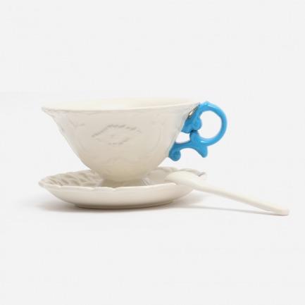 复古浮雕茶杯套装-多色 | 意大利极具艺术性家居品牌