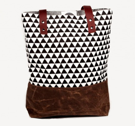Black Triangle Tote