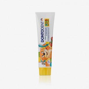 德国DONTODENT 1-6岁 儿童可食用牙膏 草莓味100ML