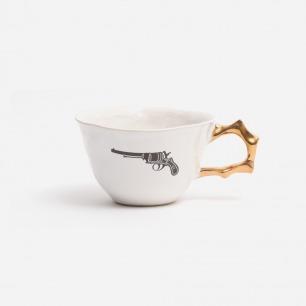 "Kühn Keramik 复古图案""手枪"" 陶瓷杯"