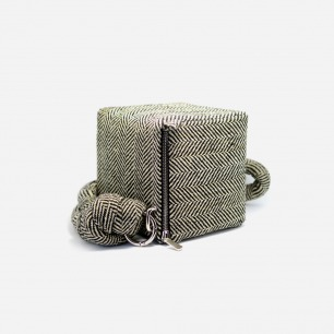 复古时尚立方体手包 | 简约优雅人字纹 两色可选