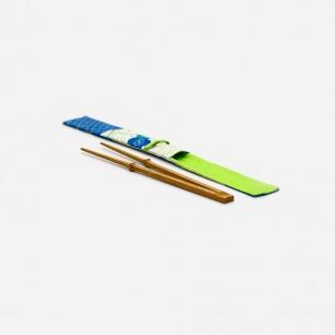 自立竹筷23cm(三节)+特制筷套