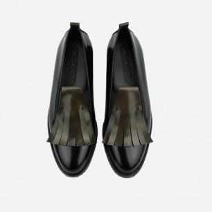 擦色真皮乐福鞋 舒适百搭   复古流苏点缀 两色可选