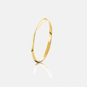 莫比乌斯18K金戒指-窄版女款 | 永不褪色的亘古承诺