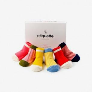 Etiquette Clothiers 彩色宝宝袜婴儿袜6双装