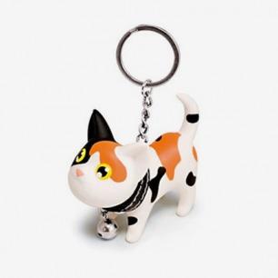 左米生活 热销创意礼物超可爱凯特猫咪公仔钥匙圈 小猫钥匙扣