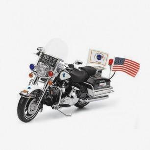 富兰克林1:10 2007年哈雷路王摩托车模型 哈雷警车 Road King
