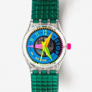 Vintage Swatch Vitesse Metal Band Watch