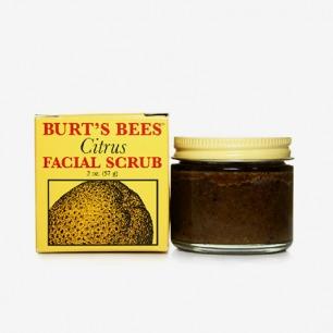 美国Burt's bees小蜜蜂柑橘脸部去角质霜磨砂膏57g