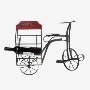 金属自行车造型 酒架 红酒架