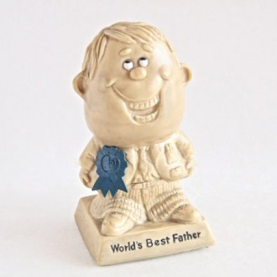 World's Best Father Figurine by Berries & by TheWrinklyElephant