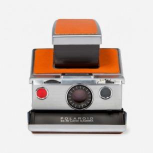 Chrome Body Refurbished Vintage Polaroid SX-70 Camera