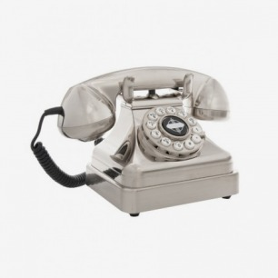 Silver Lobby Desk Phone, Wild and Wolf.