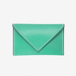 绿色小牛皮信封状名片夹