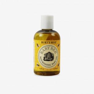 美国Burt's Bees小蜜蜂小麦杏树杏仁婴儿油118ml