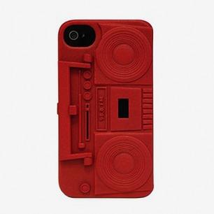 立体复古录音机提手可做支架iphone4/4S壳