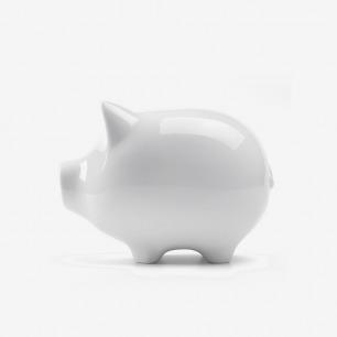 德国职人工坊系列 小猪白瓷存钱罐