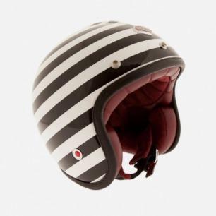 Ruby Pavillon 黑白条纹摩托车头盔