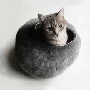 手工羊毛毡猫窝