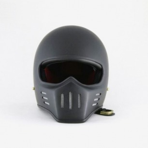 汤普森Thompson 巡航幽灵骑士复古哈雷头盔70年代风格磨砂黑