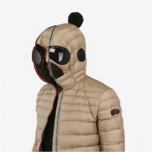 AI RIDERS ON THE STORM风雪骑手亚光尼龙连帽羽绒夹克