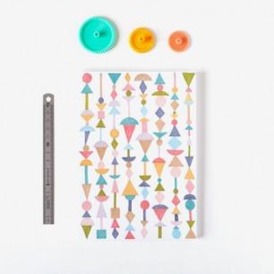 Shapes Notebook by Depeapa by depeapa on Etsy