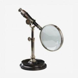 古典铜质桌面支架放大镜