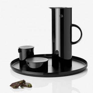 丹麦Stelton 啄木鸟真空保温壶+糖奶罐