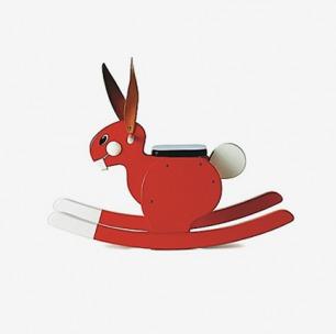 瑞典PLAYSAM Rocking Rabbit摇摇兔 红色