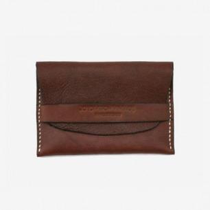 joydivison vintage 牛皮手工钱包 多功能卡包 iphone包 深棕色