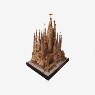 西班牙神圣家族大教堂益智多JZA2 3D纸模型