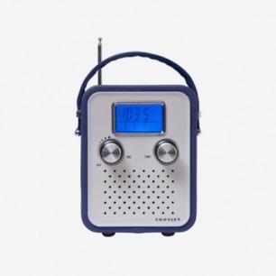 太空蓝皮革收音机