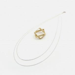 融系列黄铜戒指项链 | 小众独立原创设计师品牌