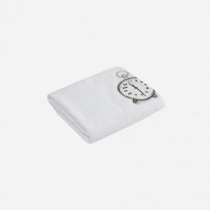 闹钟图案浴巾 | 法式趣味家居品牌