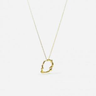 作怪的章鱼 水滴形项链 | 银镀18K金