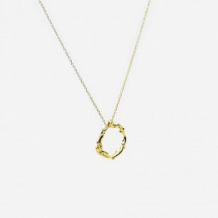 作怪的章鱼 环形项链 | 银镀18K金