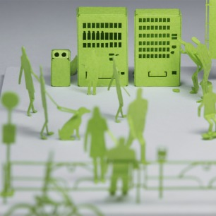 东京街头纸艺模型 5 | 多次获得日本优良设计大奖